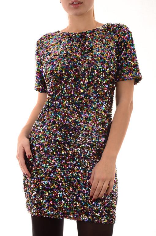 Вечерние платья оптом с паетками Beauty Woman (лот 4шт по 14Є)