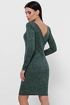 Женское трикотажное меланжевое платье-футляр (Domenica fup), фото 3
