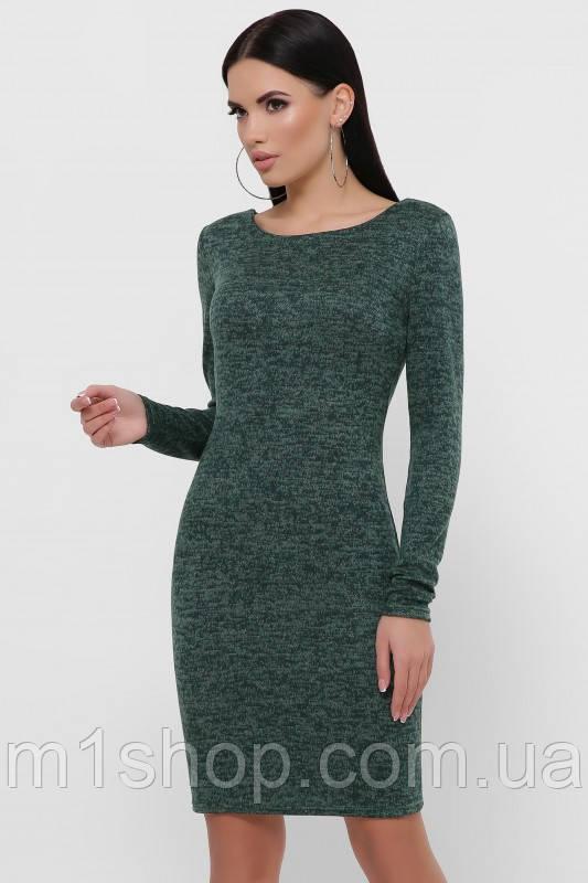 Женское трикотажное меланжевое платье-футляр (Domenica fup)
