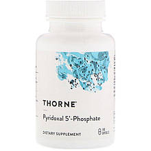 "Піридоксаль-5-фосфат Thorne Research ""Pyridoxal 5'-Phosphate"" активна форма вітаміну В6 (180 капсул)"