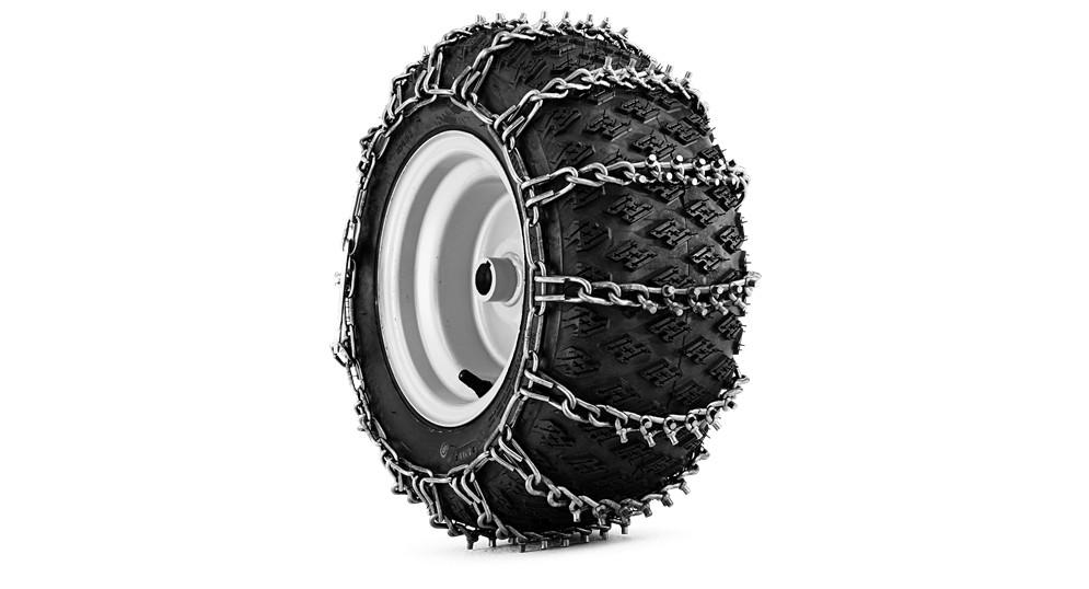 Цепи с шипами Husqvarna на колеса для райдеров 115/120/200/300 и снегоуборщиков 268, 276 | 5856661-01