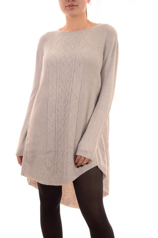 Акция!!Новая цена 14,5Є!!Теплые трикотажные платья оптом оверсайз Louise Orop (лот 10шт по 15Є)