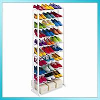 Полка для обуви органайзер 2Life Amazing Shoe Rack 10 полок на 30 пар, фото 1