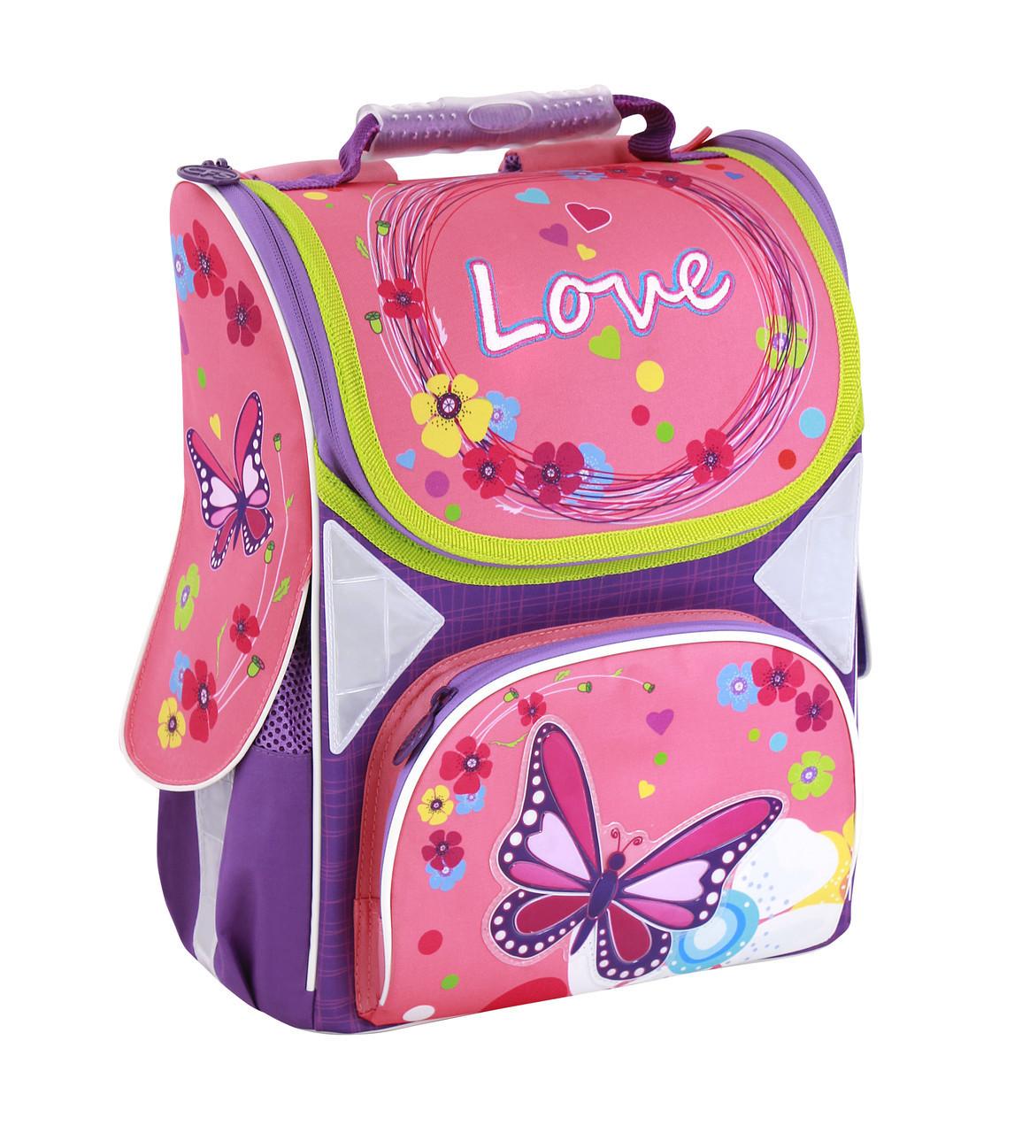 """Ранець шкільний каркасний портфель рюкзак 13,4"""", """"Love"""" 701"""