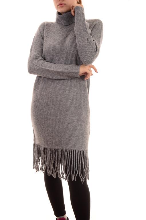 Акция!!Новая цена 14,5Є!!Трикотажные теплые платья оптом с бахромой Louise Orop (лот 8шт по 15Є)