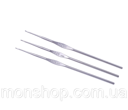 Крючок для тонкой пряжи стальной (1,60 мм)
