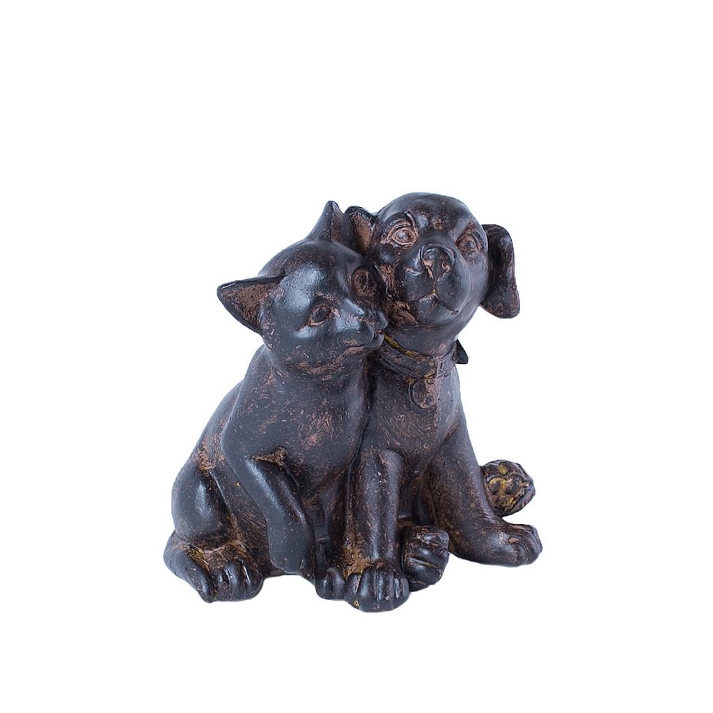 Фигурка кошка с собакой парочка 9 см 103305