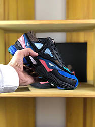Женские кроссовки Adidas Raf Simons Consortium Black Pink Blue
