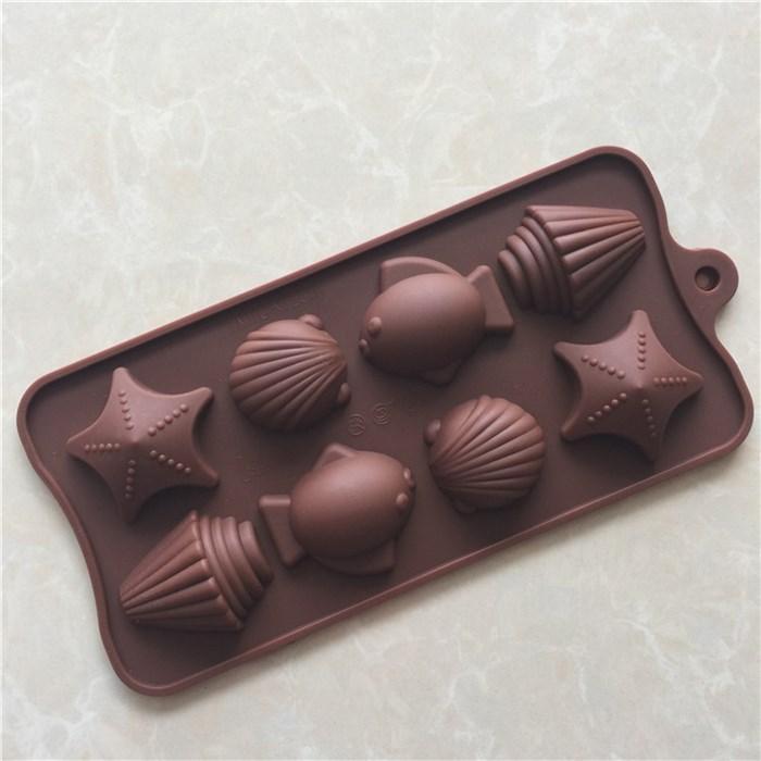 Форма силиконовая для льда, конфет, желе Морская