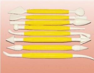 Инструменты для мастики набор из 8 шт