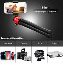 Гибкий штатив для телефона с максимальной нагрузкой до 1.2 кг., фото 3