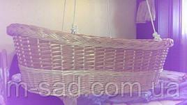 Плетеная Люлька из лозы подвесная для новорожденных