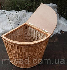 Угловая Корзина бельевая плетеная из лозы в ванную, фото 3
