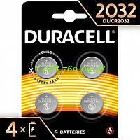 Литиевая батарейка Duracell Specialty 2032 типа таблетка 3 В 4 шт