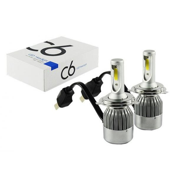 Комплект LED ламп C6 HeadLight H4 12v COB (c378)