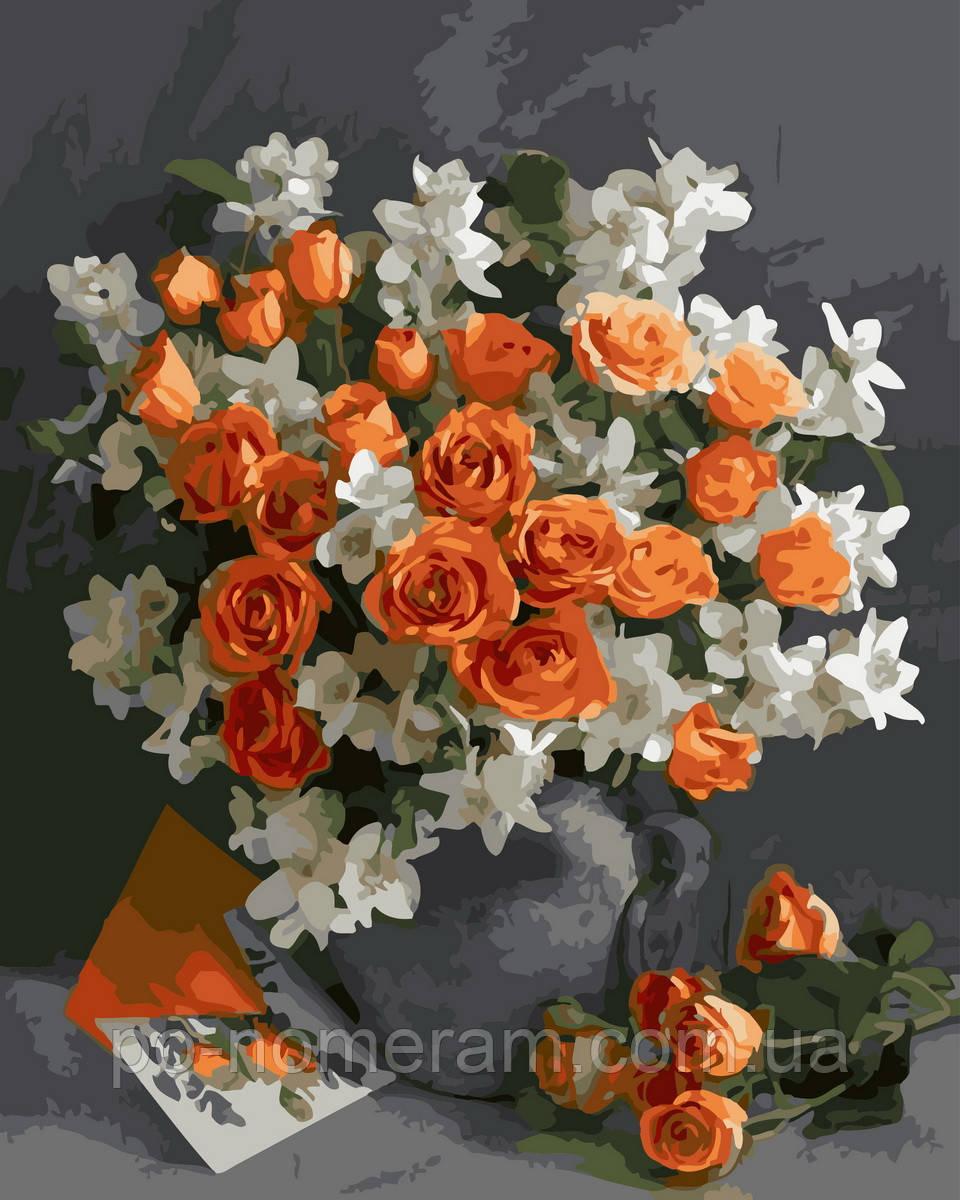 Раскраска для взрослых Чайная роза (BRM32955) 40 х 50 см ...
