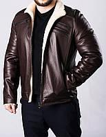Зимняя кожаная мужская куртка на меху JARS2KV