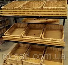 Лотки  из лозы  60x40х10 для хлеба, фруктов, фото 3