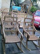 Крісла качалки (розкладне) плетене з лози доросле
