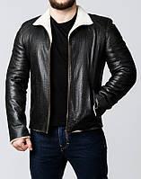 Зимняя кожаная куртка с мехом MLK2BV