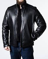 Зимняя приталенная кожаная куртка NJARS2BB