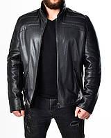 Зимняя приталенная кожаная куртка на меху DMA2BB