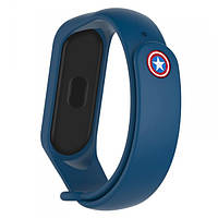 Ремешок Armorstandart Superhero Edition для Xiaomi Mi Band 4/3 Captain America Blue (ARM55061)