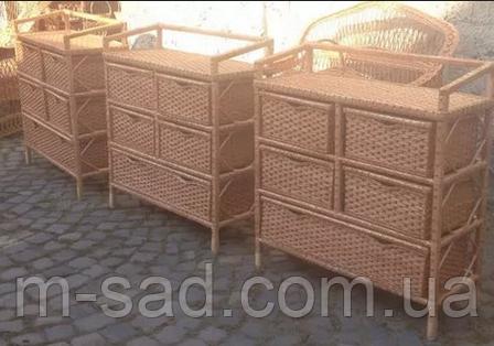 Комод плетеный из лозы с выдвижными ящиками, фото 2