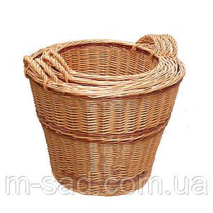 Набор корзин плетеных  из 4 шт с ручками, фото 2
