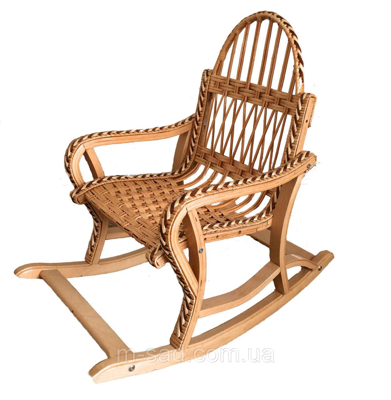 Кресло качалка плетеное для детей складное (разборное)