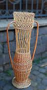 Ваза декоративная плетеная из лозы