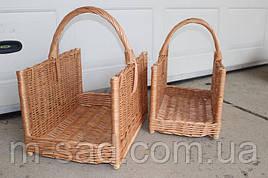 Подставка для дров у камина . Дровницы из лозы плетеные