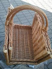 Подставка для дров у камина . Дровницы из лозы плетеные, фото 2