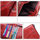 Мужской кошелек из натуральной кожи. Кожаный кошелек мужской портмоне из кожи Черный, фото 4