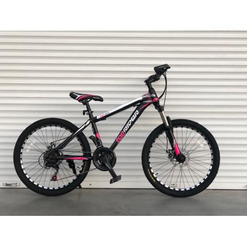 Одноподвесной горный велосипед 26 дюймов 17 рама черно-розовый  Top Rider  плюс подарок Шимано 611 модель