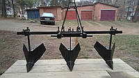 Обгортачі (окучники) потрійні для мінітрактора з трьохточковим з єднанням.