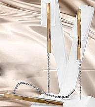 Срібні сережки-протяжки ланцюжок Мілена