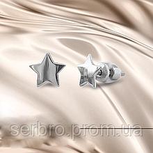 Срібні сережки гвоздики Зірочки