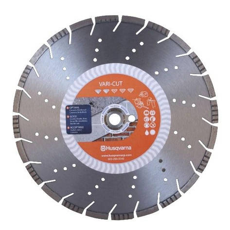 Диск алмазный 14  '/  350 1' / 20 VARI-CUT S50 ж / бетон | Husqvarna | 5865955-02, фото 2