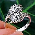 Серебряное кольцо-оберег Печать Велеса, фото 8