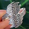 Серебряное кольцо-оберег Печать Велеса, фото 5