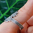 Серебряное кольцо-оберег Печать Велеса, фото 3