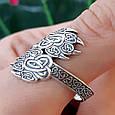 Серебряное кольцо-оберег Печать Велеса, фото 2