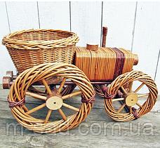 Цветочник для саду, садовий декор трактор(великий), фото 3