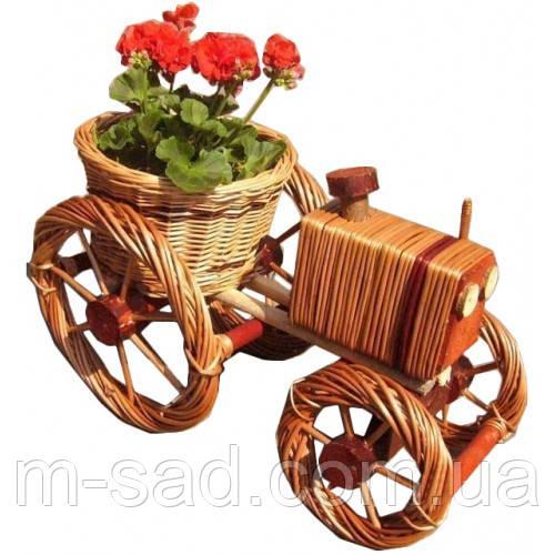 Цветочник для саду, садовий декор трактор(великий)