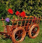 Віз декор для саду . Декоративна віз плетені з лози