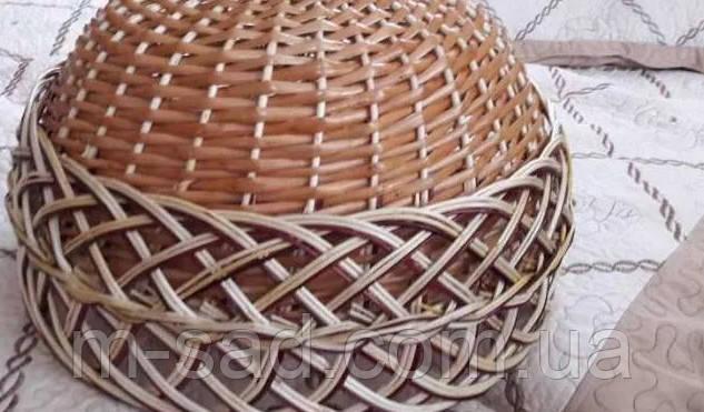 Абажур плетеный из лозы. Люстра плетеная