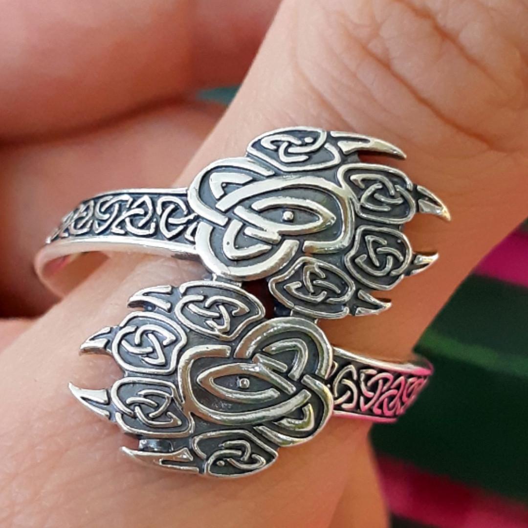 Серебряное кольцо-оберег Печать Велеса