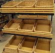 Лотки плетеные 30x30х10 торговые для магазина, фото 2