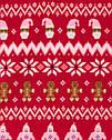 """Теплая флисовая кофта OshKosh для девочки """"Новогодняя"""" красная, фото 2"""